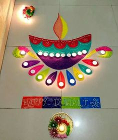 Simple Rangoli Images 2017 with excellent pattern. Easy Rangoli Designs Diwali, Indian Rangoli Designs, Rangoli Designs Latest, Rangoli Designs Flower, Free Hand Rangoli Design, Rangoli Border Designs, Small Rangoli Design, Rangoli Ideas, Flower Rangoli
