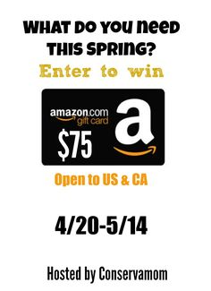 Do you love to shop? Enter to win a $75 Amazon Gift here!