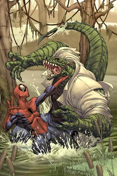 Spider-man cover- The Lizard by `diablo2003 on deviantART