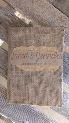 Burlap Guest Books by The Modish Manor