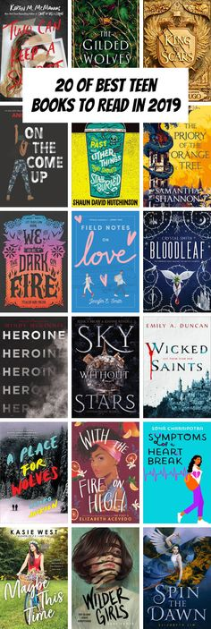 19 of Best Teen Books to Read in 2019 Books books for teens Best Books For Teens, Best Books To Read, Ya Books, I Love Books, Good Books, Teenage Books To Read, Book To Read, Reading Lists, Book Lists