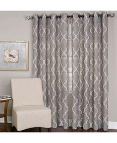 "Elrene Linen Medalia 52"" x 84"" Panel - Window Treatments - For The Home - Macy's"