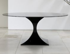 Buy Capricorn Dining Table in Gloss Black Finish by Tom Faulkner - Made-to-Order designer Furniture from Dering Hall's collection of Transitional Mid-Century / Modern Dining Room Tables Modern Dining Room Tables, Dining Chairs, Dining Set, Transitional Home Decor, Transitional Kitchen, Traditional Dining Rooms, Dining Room Inspiration, Contemporary Furniture, Capricorn
