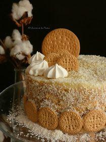 El Zurrón de los Postres: Tarta de Galletas Natillas y Coco Food Cakes, Cupcake Cakes, Chocolates, Cake Recipes, Dessert Recipes, Raw Cake, Decadent Cakes, Cheesecake Cake, No Cook Desserts
