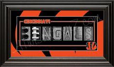 Cincinnati Bengals Alphabet Photo Collage