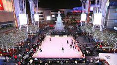 Christmas in LA. ICE SKATING AT LA LIVE!
