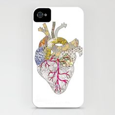 my heart is real  by Bianca Green  IPHONE CASE / IPHONE (4S, 4)  $35.00