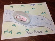 Baby Moses in basket craft for Toddlers.