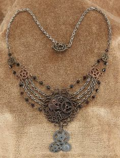 cool Elope - Steampunk Gear Chain Antique Necklace Adult