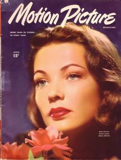 Gene Tierney on the cover of Motion Picture, the first film fan mag.