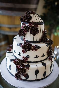 Gothic California Winery Wedding