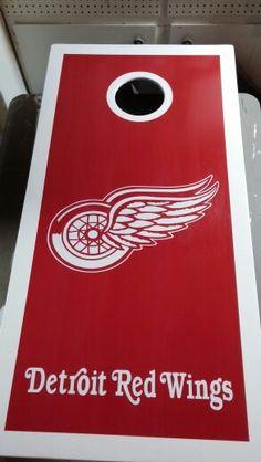 Detroit Red Wings Cornhole boards MotorCityCornhole
