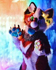 Show your true colors and surround yourself with people who love you for you! @soymilkyart #furries #fursuiting #fursuit #snow #ice #icecastles #furryfandom #furaffinity #rainbow