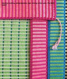 machine knitting, polypropylene rope, cotton yarn, Pia Heilä 1/2017