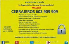 Cerrajeros Madrid 603 909 909: Cerrajeros Comunidad de Madrid 603 909 909