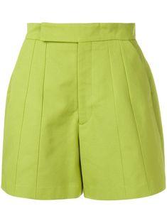 Namacheko Hevi Dart Shorts - Green In Mela Green Short Elegantes, Chor, Green Cotton, Cotton Shorts, Size Clothing, Cheer Skirts, Short Dresses, Women Wear, Style Inspiration