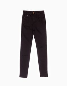 Stradivarius Colombia Pantalón super high waist - BLACK & WHITE - MUJER | #MomentoExtraordinario Trouser Jeans, Trousers, Pants, Winter Sale, Mary Kay, Black Jeans, Black And White, My Style, Makeup Trends