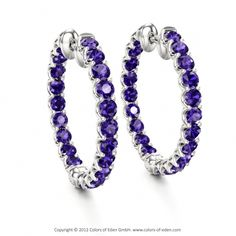 Inside Out Tanzanite Earrings in White Gold