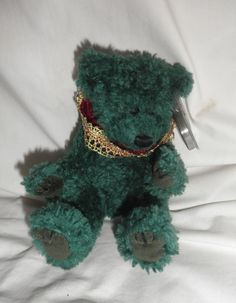 2d3f84862aa TY Attic Treasures Laurel the Green Bear retired 1993 with tags~ i have  this exact one but mine looks even better  )