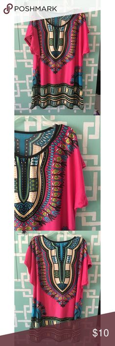 Cute tribal shift dress! No brand tag • 100% polyester • great design • lightweight • cute with leggings and boots Dresses