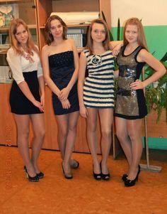 Teenage girls in pantyhose