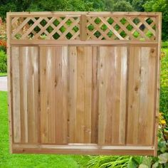 6 ft. x 6 ft. Western Red Cedar Diagonal Lattice Top Fence Panel Kit, 6x6DiagTopFKit at The Home Depot - Tablet