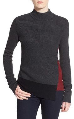 Bailey 44 'Dislocated' Colorblock Mock Neck Sweater