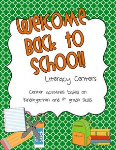Back to School Literacy Centers that focus on the end of First grade skills.  Perfect for beginning second graders