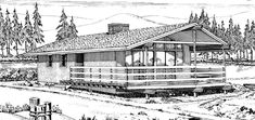 Cottage House Plan chp-40625 at COOLhouseplans.com Plan ID: chp-40625, Order Code: C132    880 sq ft
