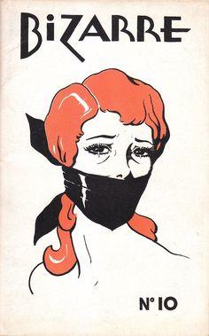 Illustration for vintage Bizarre magazine cover (n/d)