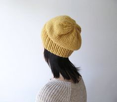 Sale 15 OFF  Hand Knitted Chunky Hat in Mustard by naryaboutique, $22.10