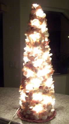 Sea Shell Lighted Holiday Tree  20 inches tall by Bonnie1025, $125.00