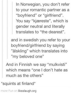 Squints at Finland