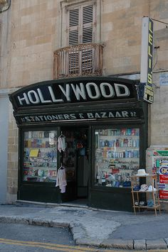 Shops' facade in Malta -- My Gran's shop ! This shop holds too many childhood memories.... RIP xxxx