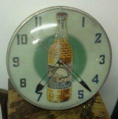 Vintage Suncrest 1950's Wall Clock Advertising Drink Soda Sun Crest | eBay