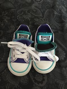 b681ea4f8 Toddler Converse Size 5 Blue Purple White Double Tongue. Great Condition.  Ranya Kotb · kids footwear