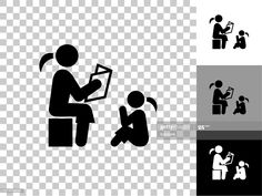 Reading To Children Icon On Checkerboard Transparent Background Illustration #Ad, , #AD, #Icon, #Children, #Reading, #Checkerboard Children Reading, Cool Designs, Illustration, Image, Art, Art Background, Illustrations, Kunst, Gcse Art