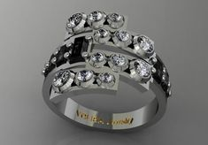 14k White Gold Beautiful and Gorgeous Ring for Women by VOLISA, $1450.00