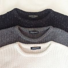 Simple but far from basic  American Apparel crew neck sweater