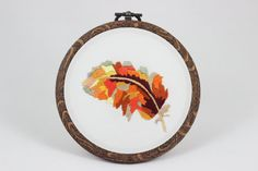 embroidery hoop picture hoop art hand by NeedleTwiddle on Etsy