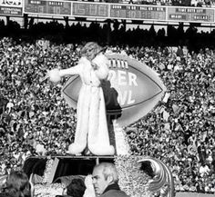 Carol Channing, the first artist to perform at the Super Bowl