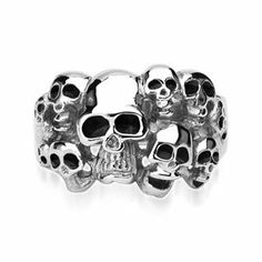"""316L Surgical Stainless Steel """"10 Skull"""" Men's Ring; Comes With Free Gift Box Jinique, http://www.amazon.com/dp/B0091VP25C/ref=cm_sw_r_pi_dp_pbO1qb08BFHBS"""