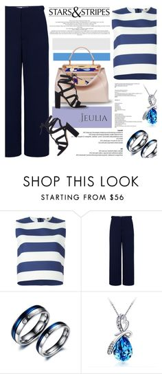 """""""Stripe"""" by defivirda ❤ liked on Polyvore featuring MSGM, Surreal But Nice, Gianvito Rossi, women's clothing, women, female, woman, misses and juniors"""