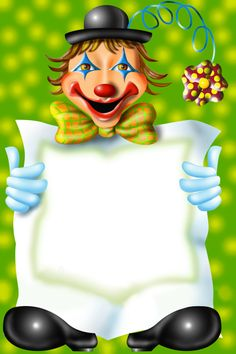 Clown Transparent PNG Photo Frame