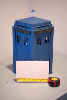 Dr Who TARDIS Wedding Photo Box / Card Box by InnerGeekOuterBeauty
