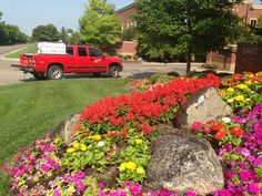 Lyndale Plant Services monitors the health and appearance of your flower beds throughout the summer with our fleet water trucks