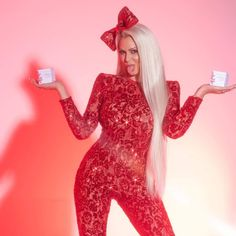 Maryse Ouellet Wwe Maryse, L Love U, Maryse Ouellet, Red Jumpsuit, Diva, Tights, Bodycon Dress, High Neck Dress, Princess