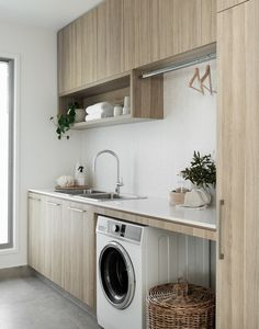 Top Tips for designing your game changer laundry with Interior Designers Zephyr & Stone Laundry Chute, Laundry Room Storage, Modern Laundry Rooms, Laundry In Bathroom, Laundry Closet, Home Interior, Interior Design Kitchen, Interior Logo, Interior Paint