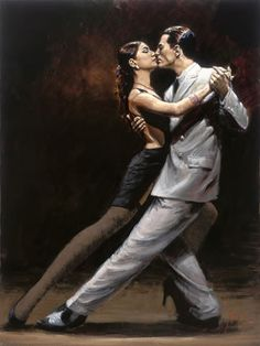 Fabian Perez Tango in Paris painting Free worldwide Shipping - paintingsframe.com