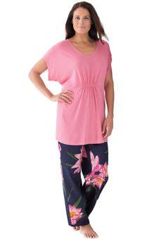 3e7a1509427c Satin pj set by Amoureuse® with dolman sleeves